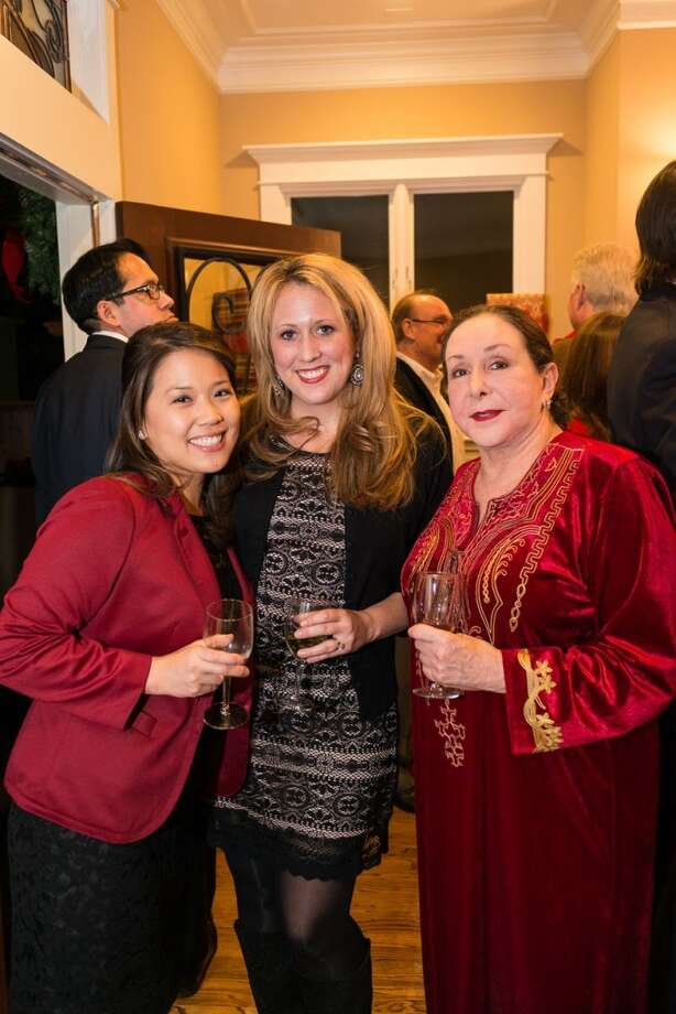 Vicky Wu, Ginny Ledwell, Najla Tanas at the Houston District Export Council Holiday party. Photo: Logan Beck, Logan Beck Photography