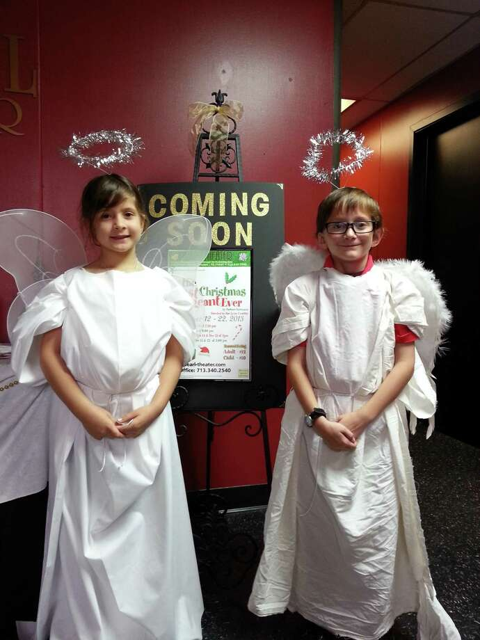 Anna Singh and Joseph Loog are cast as angels.