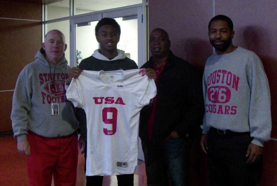 Stafford freshman Hezekiah Jones has been named to the roster for one of three East Bay Youth All-American games. Photo: Courtesy Stafford High School / 2012