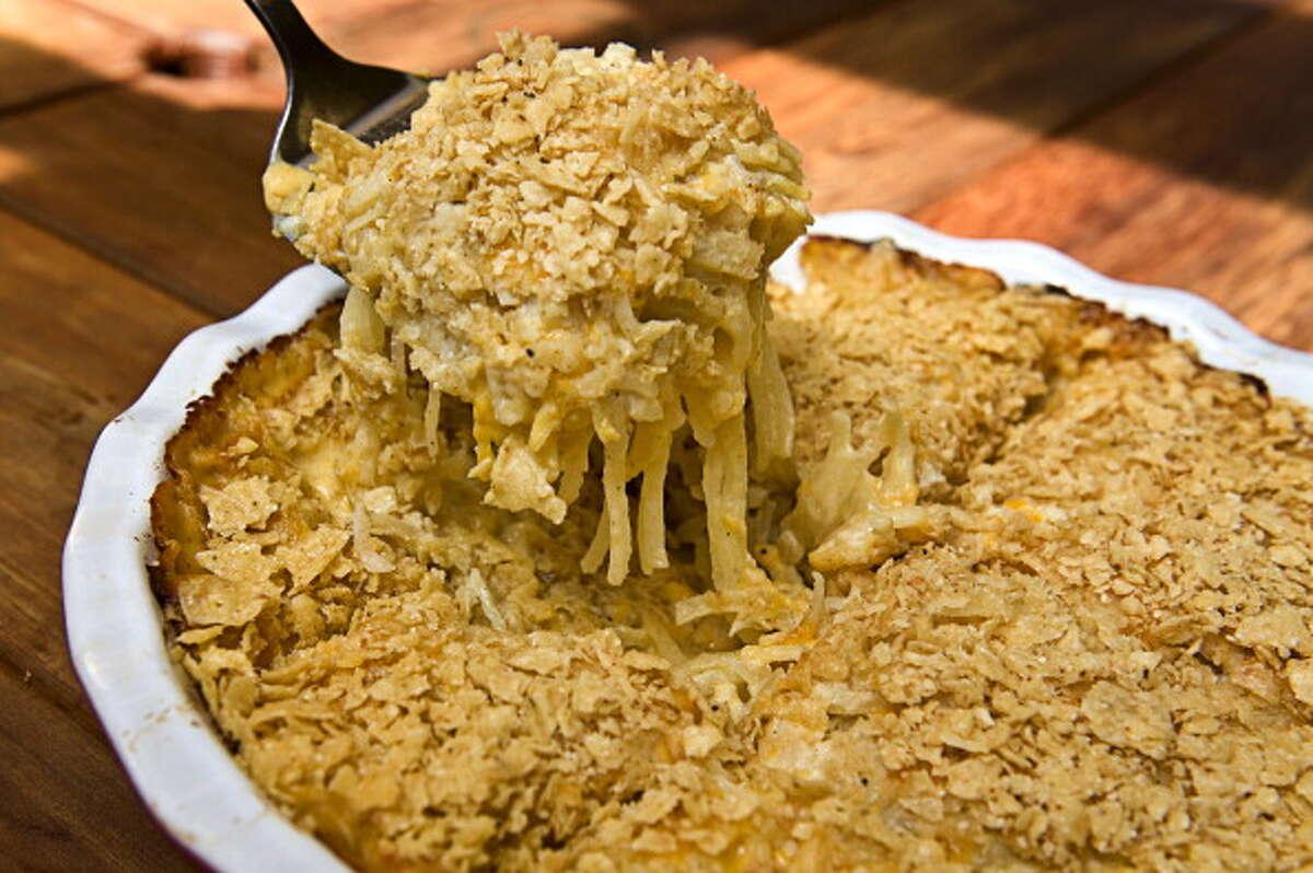Potato casseroleServing size 6 ouncesCalories 210Calories from fat 72