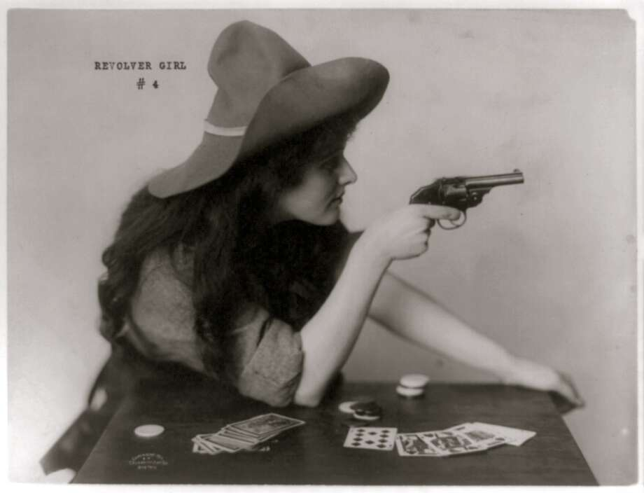 Woman in cowgirl clothing, circa 1912. Photo: Buyenlarge, Getty Images