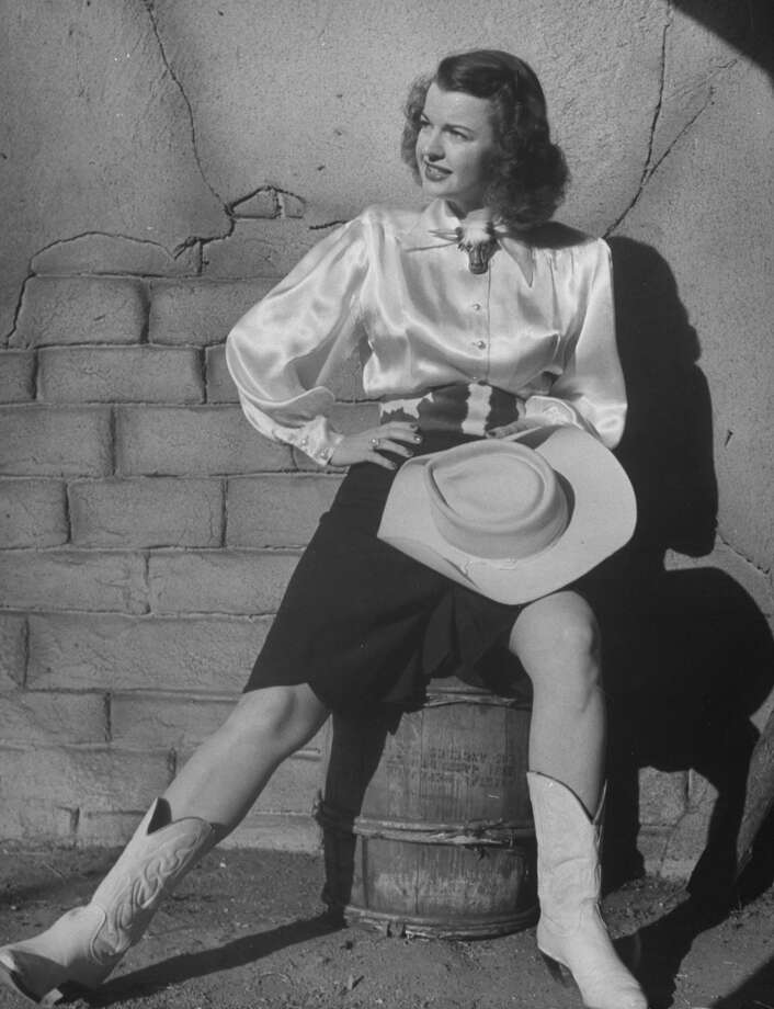 Full length portrait of actress Dale Evans wearing a cowgirl costume. Photo: Loomis Dean, Time & Life Pictures/Getty Image