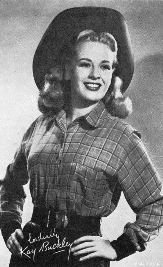 Kay Buckey in a cowgirl outfit, 1950s. Photo: Film Favorites, Getty Images