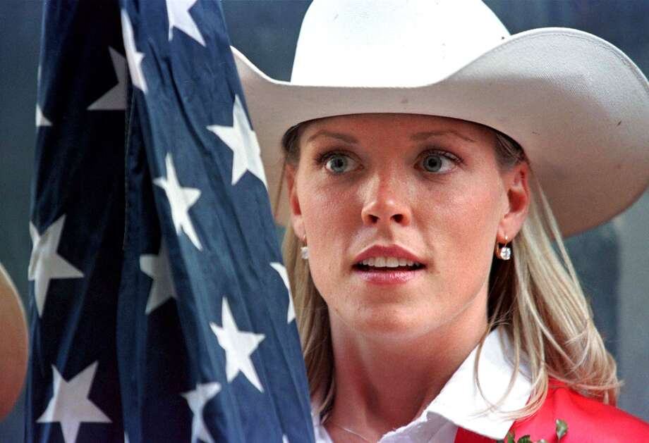 A Calgary Stampede Queen prepares to go onstage at the 1998 Calgary Stampede Photo: Jeff McIntosh, Getty Images