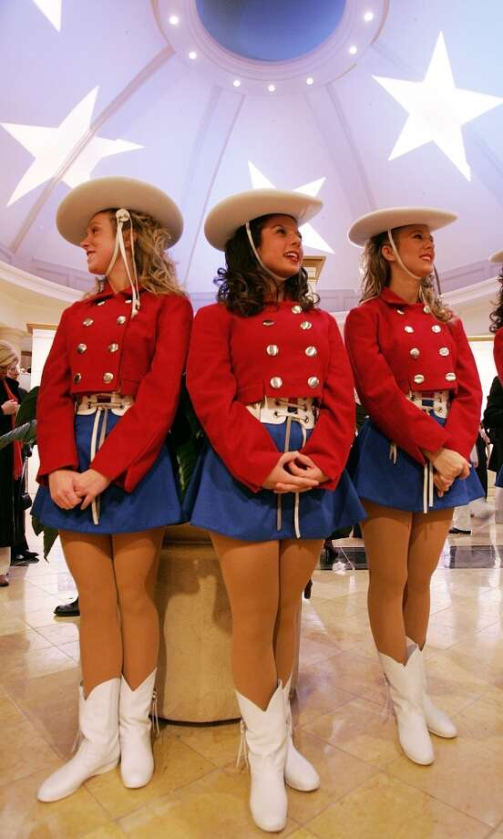 Members of the Kilgore College Rangerettes look on during the Black Tie 'n Boots Inaugural Ball sponsored by the Texas State Society January 19, 2005 in Washington, DC. Photo: Mario Tama, Getty Images