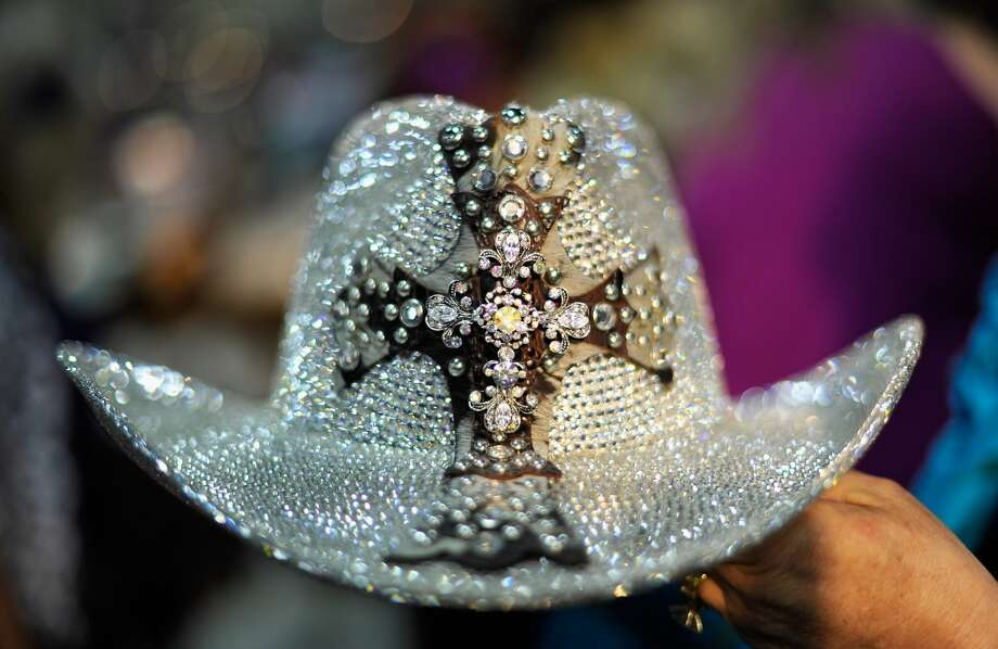 Swarovski Cowgirl Hat displayed at the ACM Experience at the Mandalay Bay Resort & Casino  on March 30, 2012 in Las Vegas, Nevada. Photo: Jerod Harris/ACMA2012, Getty Images For ACM