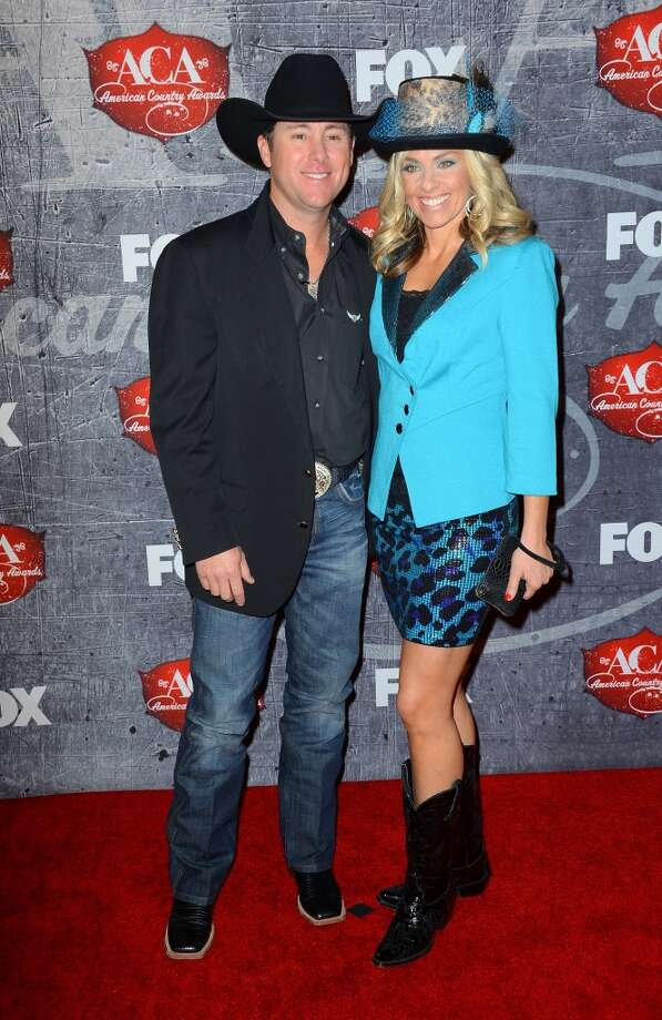 Rodeo champion Trevor Brazile (L) and his wife Shada Brazile arrive at the 2012 American Country Awards. Photo: Frazer Harrison, Getty Images
