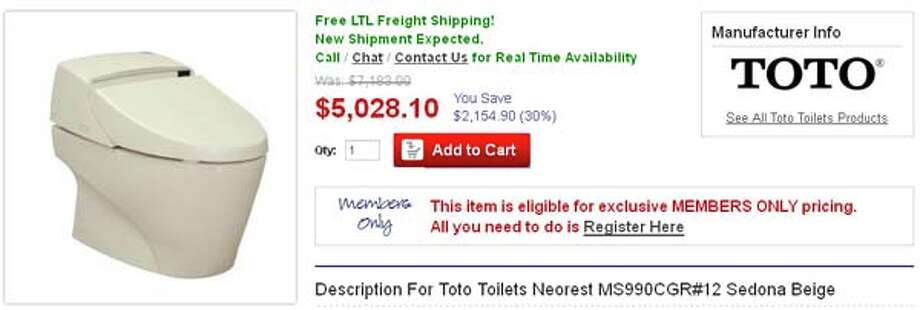 When you're not busy flushing your money down the toilet, you can buy an actual toilet. Priced at over $5,000, we really don't see what's so special about it.
