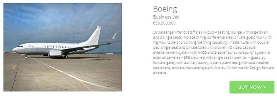 For over $81 million, you can buy this Boeing jet right off of the website.
