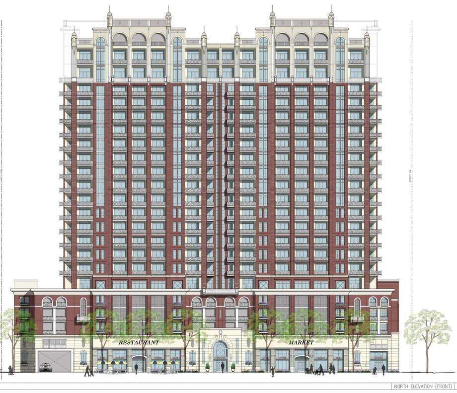 Artist rendering of the proposed 1717 Bissonnet apartment project as of March, commonly known as the Ashby high-rise. Photo: Buckhead Investment Partners Inc