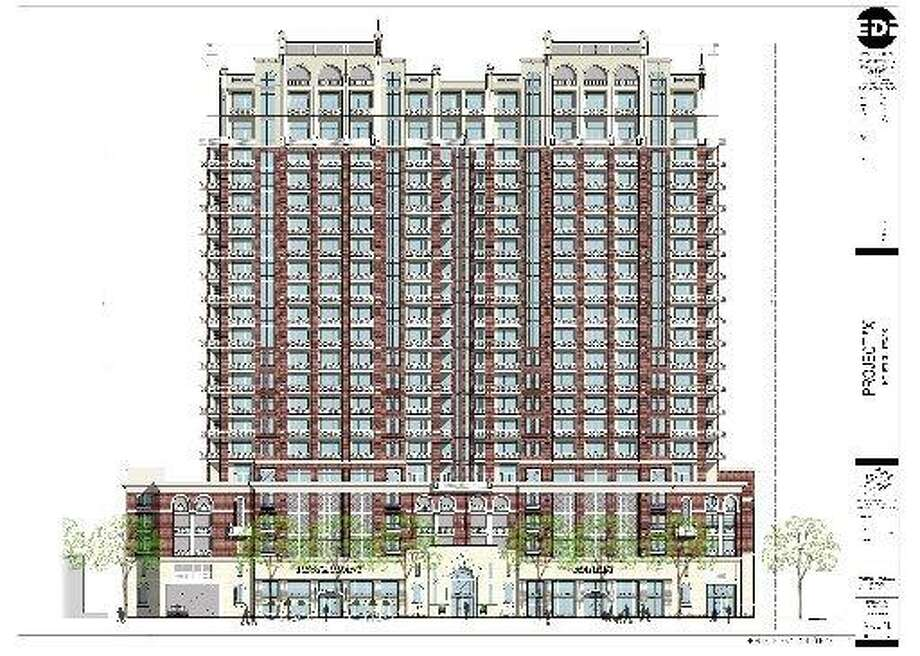 A rendering of the proposed project planned for 1717 Bissonnet.