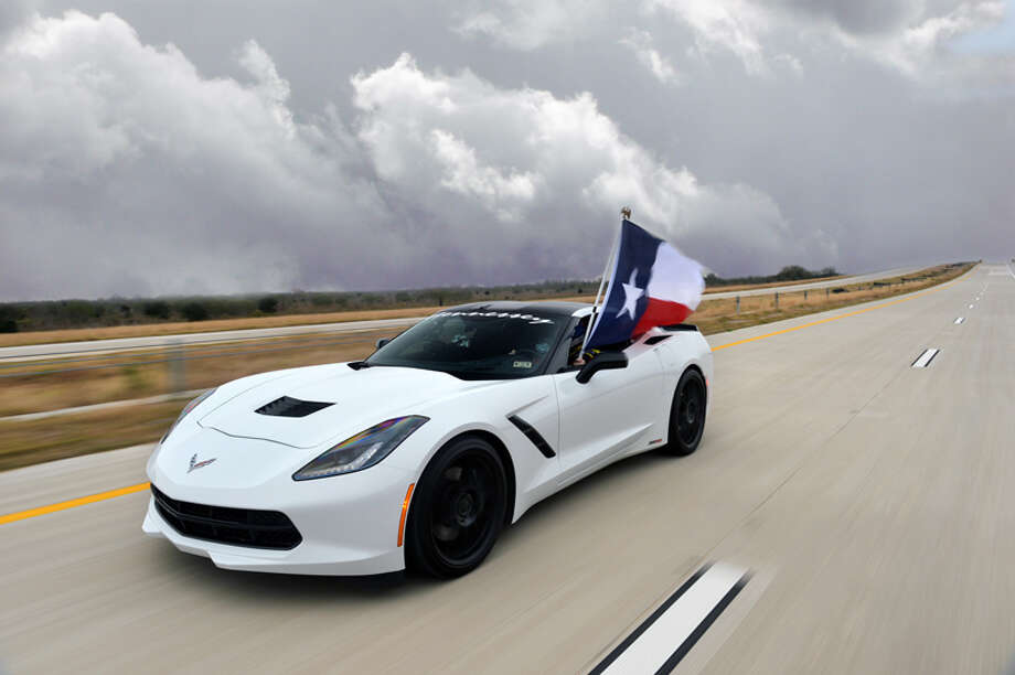 Hennessey Performance raced a 2014 Corvette Stingray along the new Texas Tollway, topping out at 200 mph. Photo: Hennessey Performance