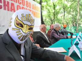 Mexico City is celebrating 80 years of Lucha Libre by a photo exhibit in the Chapultepec Park, one of the Western Hemisphere's largest city parks.