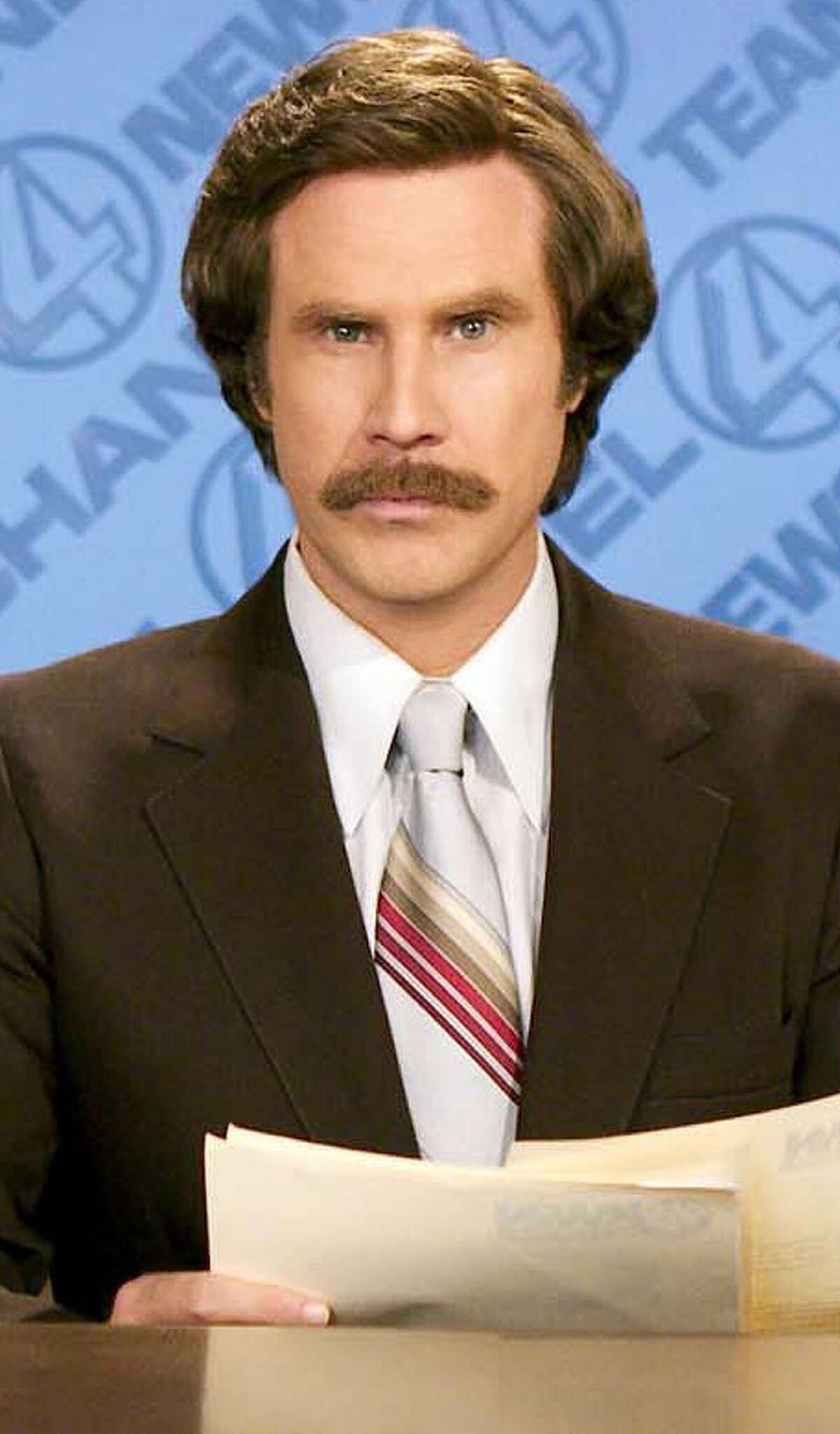 Who could possibly match the 'stache' and style of Ron Burgundy.