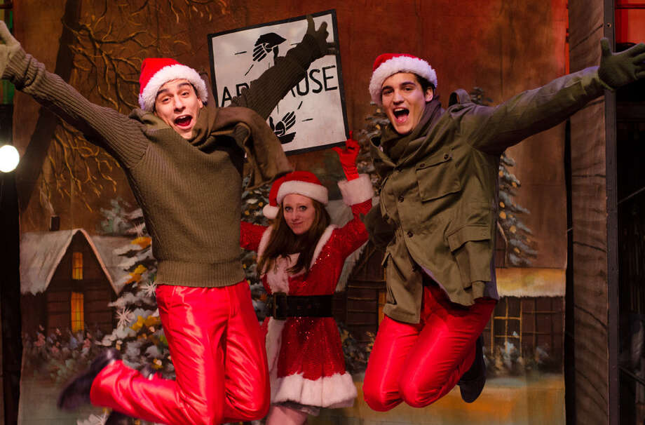 "Austin Allie (from left), Cierra Schusterick and Chris Gonzalez appear in the Cameo Theatre's ""White Christmas."" Photo: Courtesy James Teninty / James Teninty Photography"