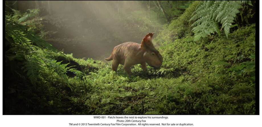 "Patchi leaves the next to explore in ""Walking With Dinosaurs"" Photo: --, 20th Century Fox / TM and © 2013 Twentieth Century Fox Film Corporation.  All rights reserved.  Not for sale or duplication."