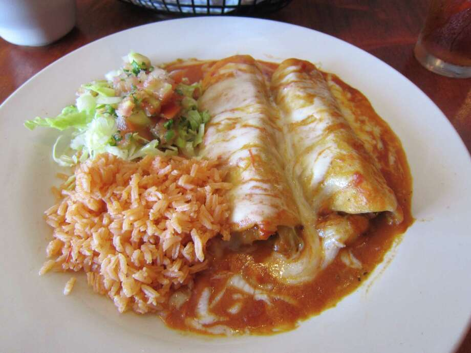 Shrimp enchiladas at Soto's Kitchen in Missouri City Photo: Syd Kearney