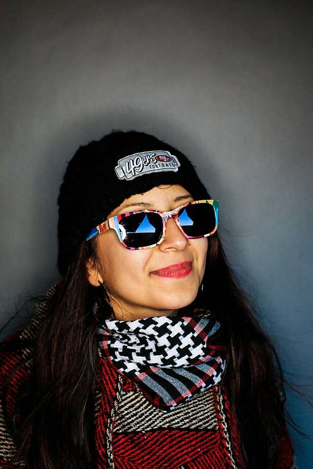 49ers fan Lisa Avila, 28, of San Jose. Photo: Mike Kepka, The Chronicle