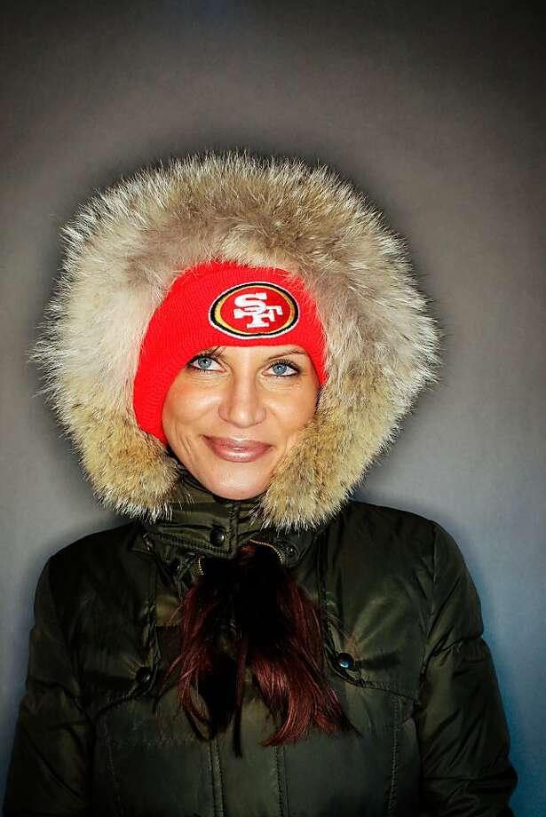49ers fan Michele Jonsson, 40, of Vallejo. Photo: Mike Kepka, The Chronicle