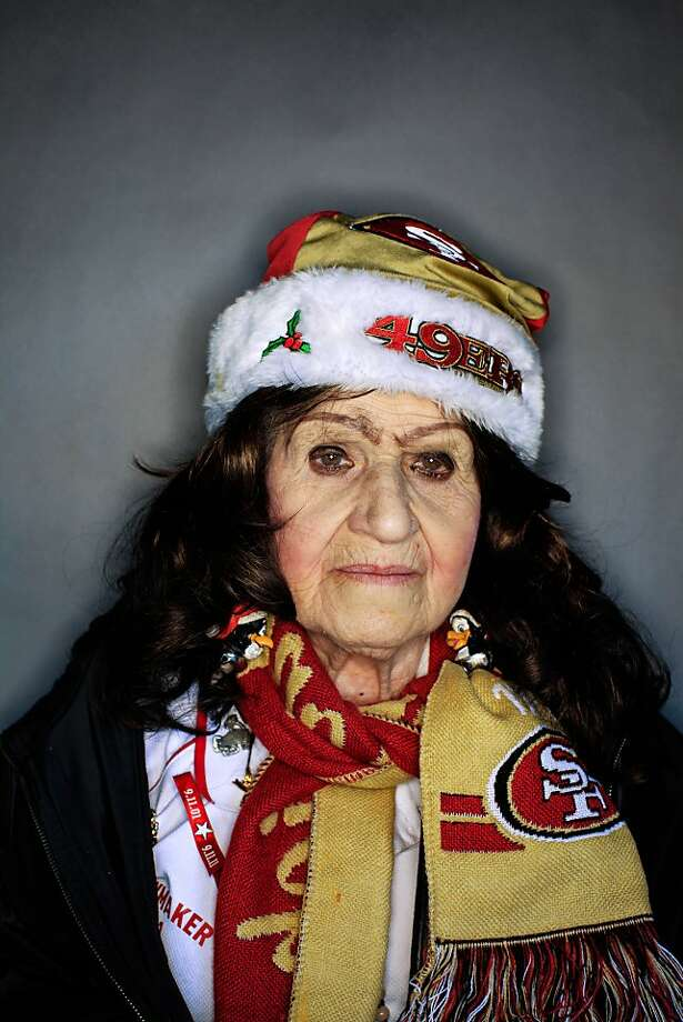 49ers fan Bernice Hourcade, 88,  of San Francisco. Photo: Mike Kepka, The Chronicle