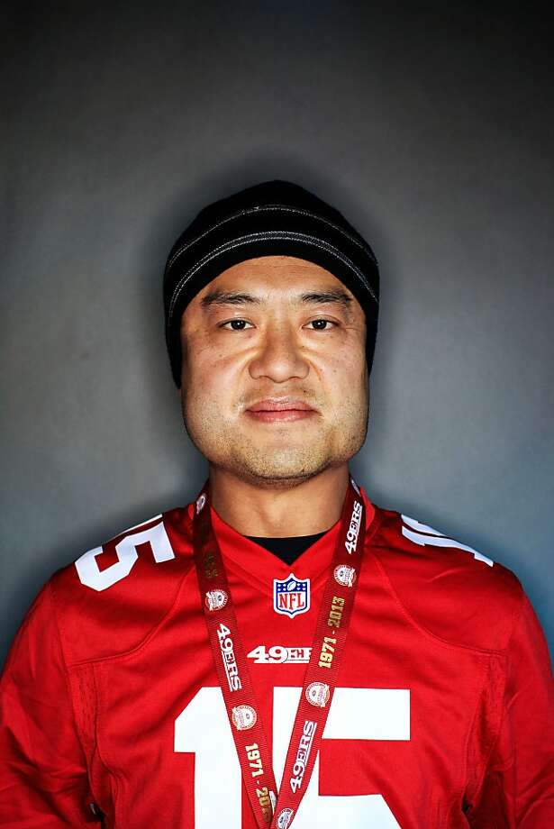 49ers fan Steve Chi, 45, of Cupertino. Photo: Mike Kepka, The Chronicle