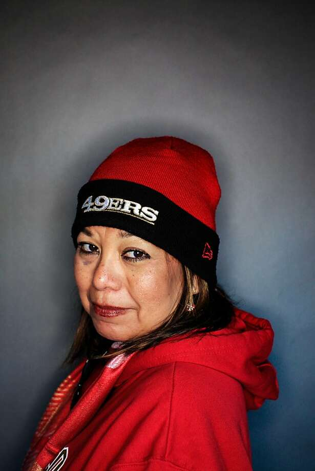 49ers fan Jeanette Herman, 53, of Livermore. Photo: Mike Kepka, The Chronicle