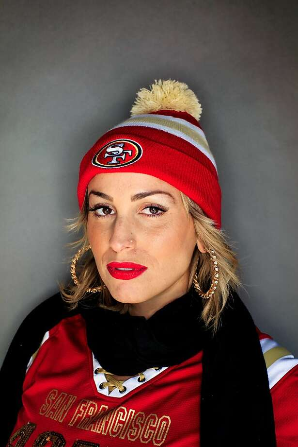 49ers fan Kasey Brooks, 26, of Sacramento. Photo: Mike Kepka, The Chronicle