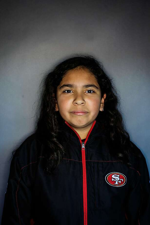 49ers fan Brittini Garcia, 11. Photo: Mike Kepka, The Chronicle
