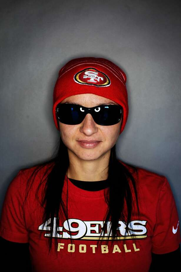 49ers fan Brittany McMurry, 26, San Jose. Photo: Mike Kepka, The Chronicle