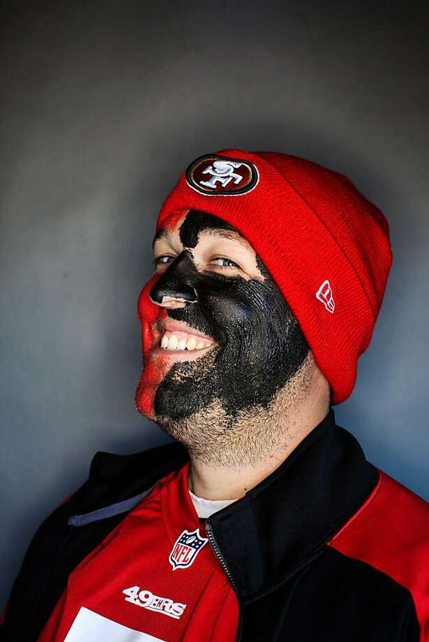 49ers fan Brian Boozer, 30, of Mission Viejo. Photo: Mike Kepka, The Chronicle