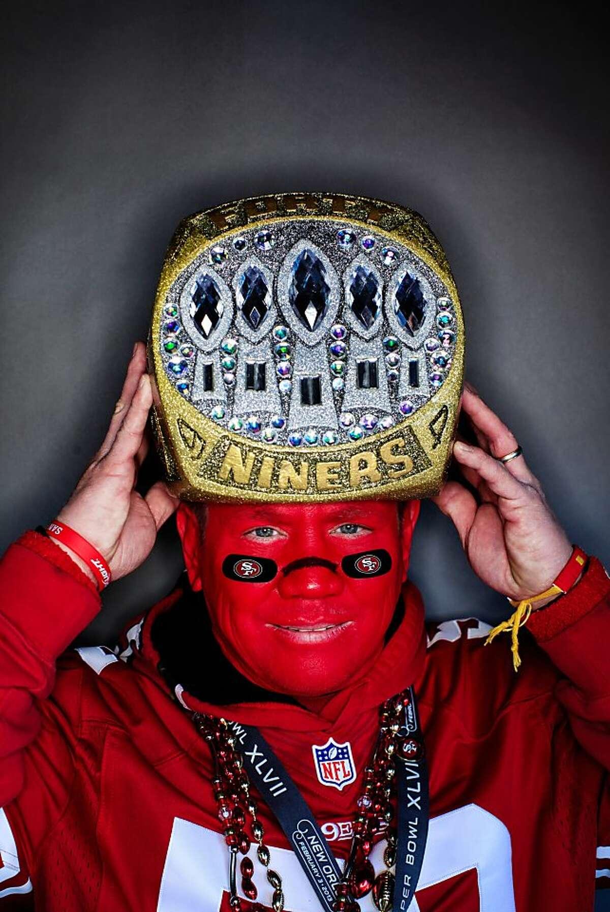 "49ers fan Mark ""49erMark"", Castanon, 52, San Jose."