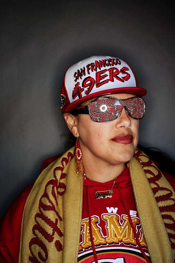 49ers fan Josie Caceres, 35, of San Francisco. Photo: Mike Kepka, The Chronicle