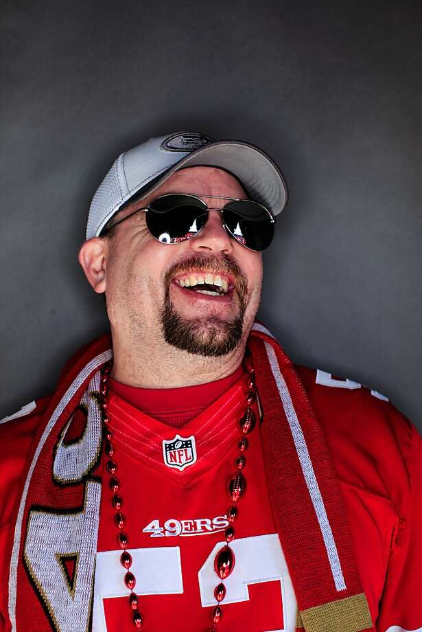 49ers fan Greg Cruea, 42, of Ogden, UT. Photo: Mike Kepka, The Chronicle