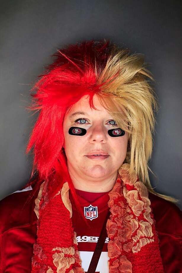49ers fan Leila Foard, 36, of Seattle. Photo: Mike Kepka, The Chronicle