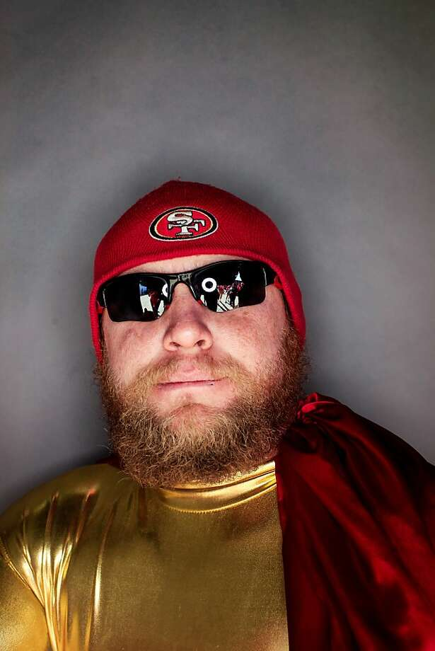 49ers fan Bill Taylor, 32, of Colorado Springs, CO. Photo: Mike Kepka, The Chronicle