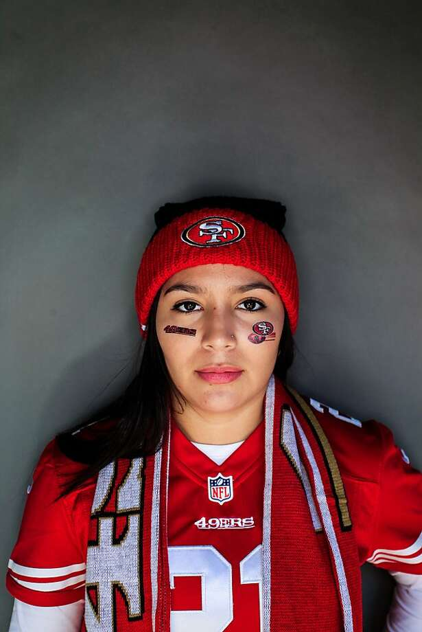 49ers fan Danielle Ortiz, 18, of McMinnville, Oregon. Photo: Mike Kepka, The Chronicle
