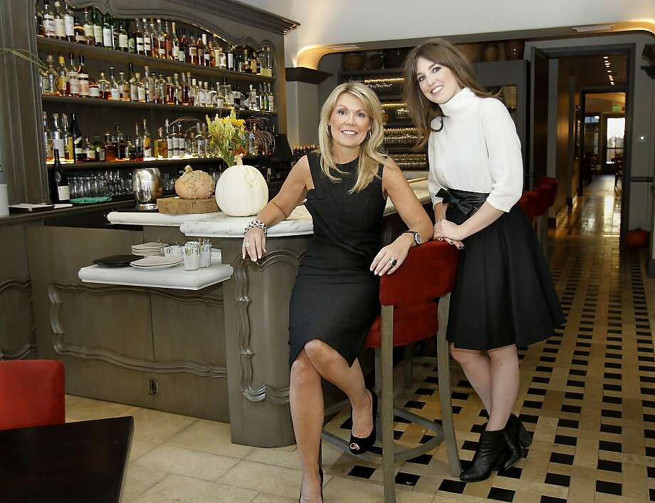 Catherine (left) and Justine Macfee in the bar area at Chalkboard restaurant. Catherine and Justine Macfee, the mother and daughter design team at the restaurant they designed, Chalkboard in Healdsburg, Calif. Wednesday October 30, 2013. Photo: Brant Ward, The Chronicle