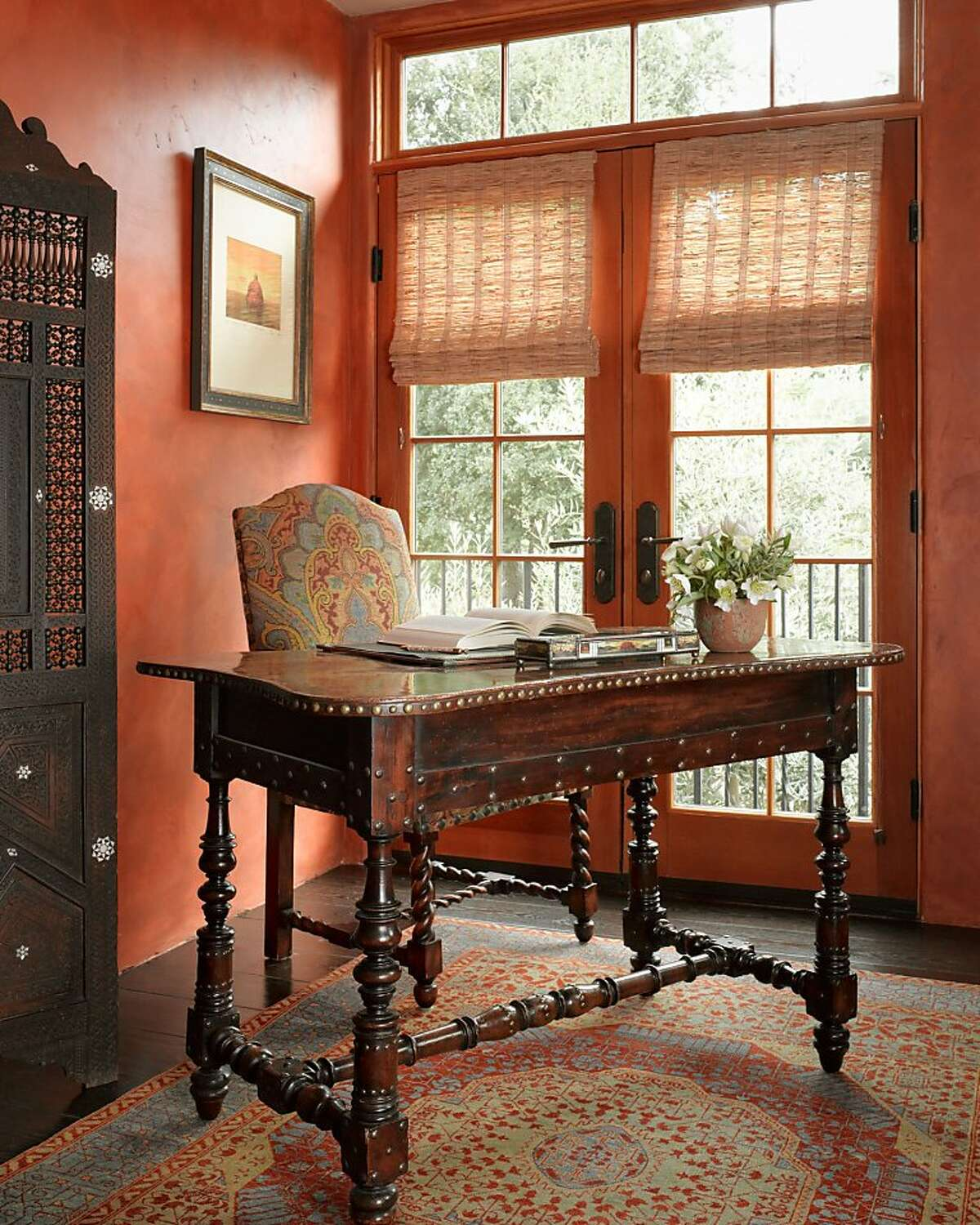 An 18th Century Italian Walnut Writing Table, a Catherine Macfee favorite.