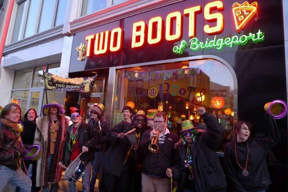 Two Boots in Bridgeport will have live music and a price-fixed, three-course dinner menu that cost $35 per person or $60 per couple. Dinner comes with a champagne toast. For more information, visithttp://www.twobootsbridgeport.com/