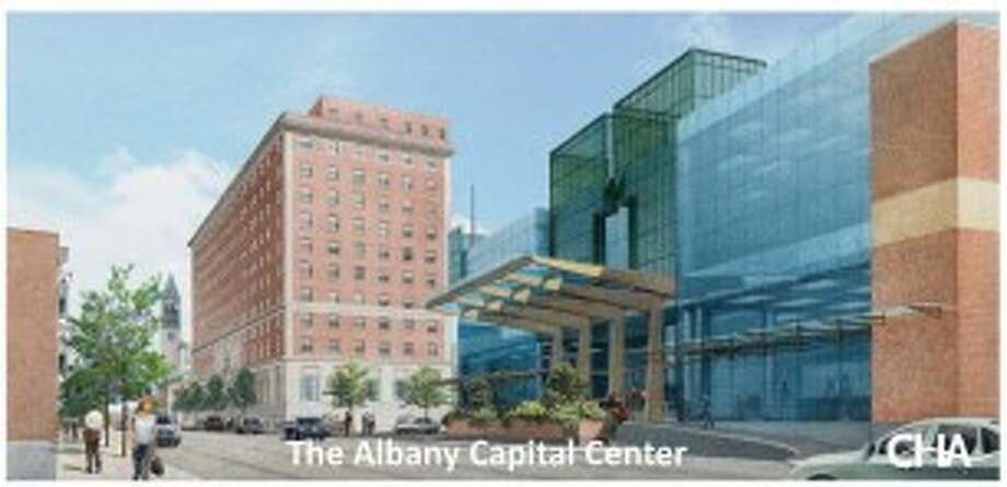 Rendering of the alternative plan for an Albany Convention Center. (Albany Convention Center Authority)