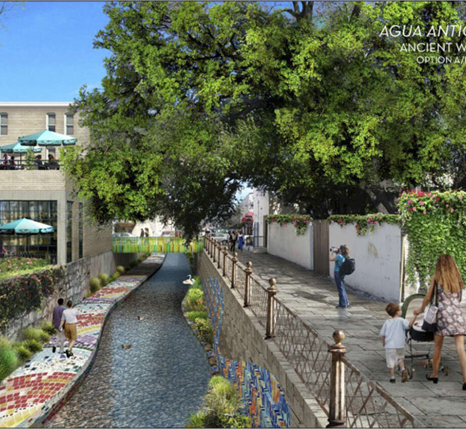 This is a proposed design for the development of the San Pedro Creek area downtown. Photo: SARA And Bexar County