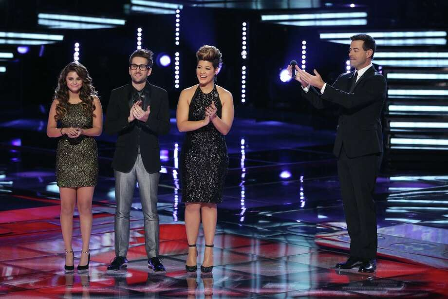 "THE VOICE -- ""Live Finale"" Episode 519B -- Pictured: (l-r) Jacquie Lee, Will Champlin, Tessanne Chin, Carson Daly -- (Photo by: Tyler Golden/NBC) Photo: NBC, Tyler Golden/NBC / 2013 NBCUniversal Media, LLC"