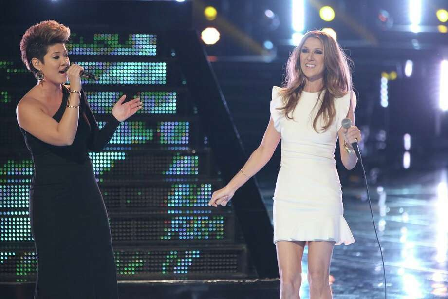 """THE VOICE -- """"Live Finale"""" Episode 519B -- Pictured: (l-r) Tessanne Chin, Celine Dion -- (Photo by: Tyler Golden/NBC) Photo: NBC, Tyler Golden/NBC / 2013 NBCUniversal Media, LLC"""