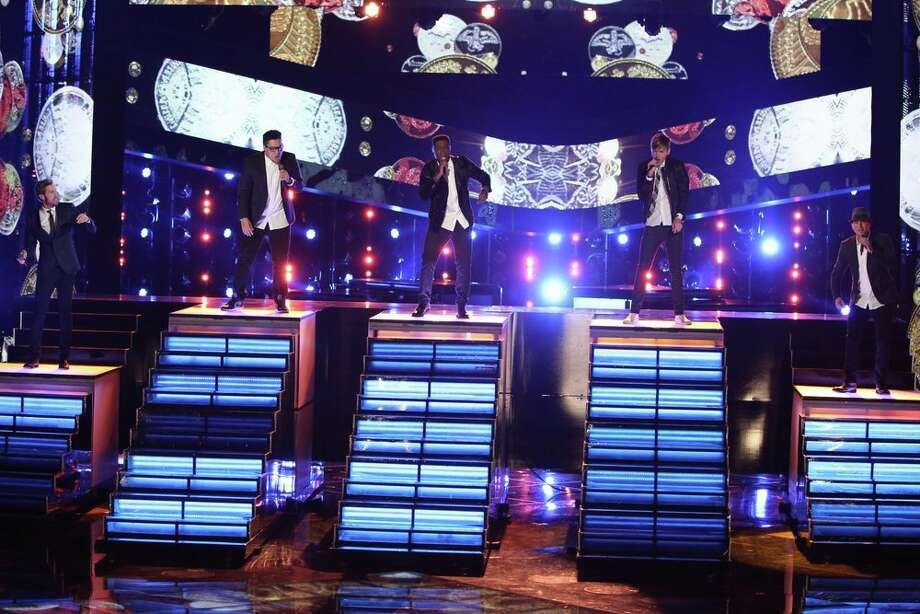 "THE VOICE -- ""Live Finale"" Episode 519B -- Pictured: (l-r) Ray Boudreaux, Preston Pohl, Matthew Schuler, Nic Hawk, Josh Logan -- (Photo by: Tyler Golden/NBC) Photo: NBC, Tyler Golden/NBC / 2013 NBCUniversal Media, LLC"