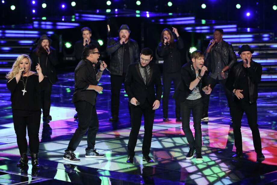 "THE VOICE -- ""Live Finale"" Episode 519B -- Pictured: (l-r) Shelbie Z., Cole Vosbury, Preston Pohl, Ray Boudreaux, Austin Jenckes, James Wolpert, Jonny Gray, Nic Hawk, Matthew Schuler, Josh Logan -- (Photo by: Tyler Golden/NBC) Photo: NBC, Tyler Golden/NBC / 2013 NBCUniversal Media, LLC"