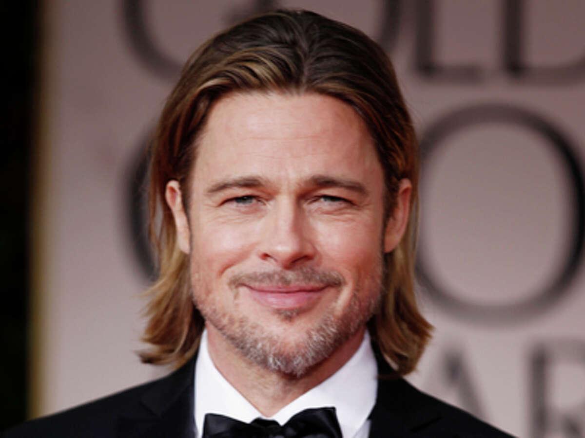 Brad Pitt arrives at the 69th Annual Golden Globe Awards Sunday, Jan. 15, 2012, in Los Angeles.