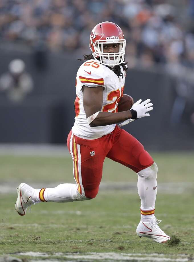 4. Chiefs (11-3) Last week: 7  Running back Jamaal Charles is the first player in NFL history with at least four touchdown catches and one touchdown rushing in a game. Photo: Marcio Jose Sanchez, Associated Press