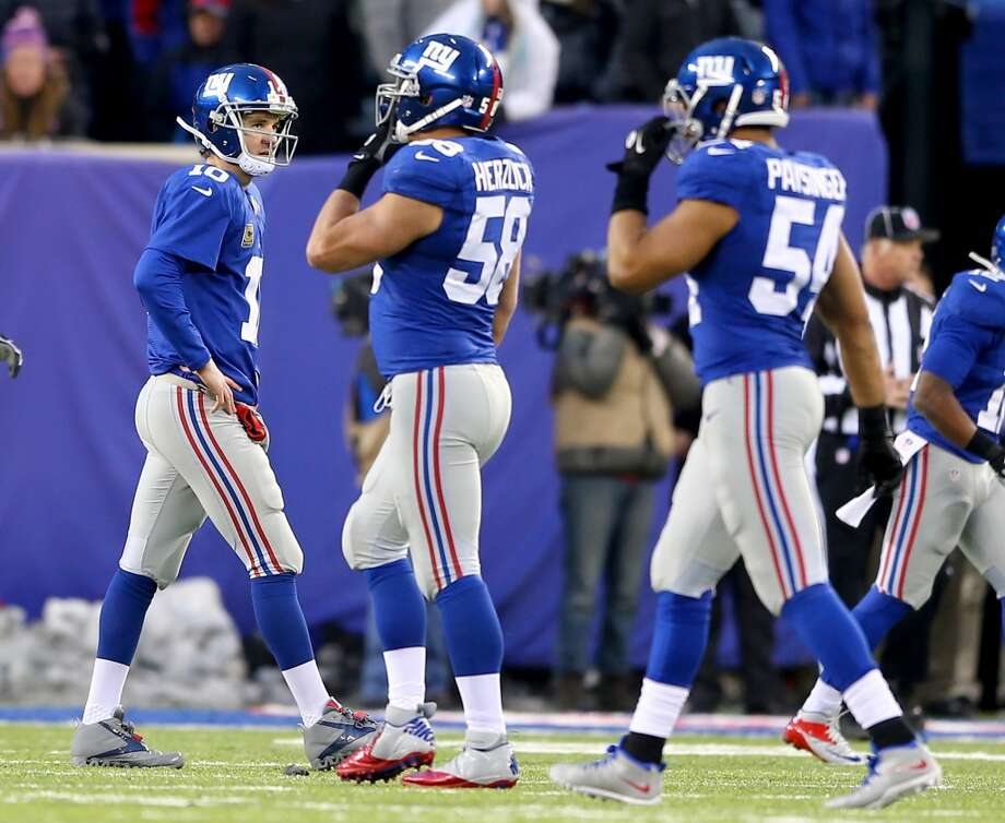 24. Giants (5-9) Last week: 22Eli Manning has thrown a league-high 25 interceptions. The only quarterback close to him is the Jets' Geno Smith with 21. Photo: Elsa, Getty Images