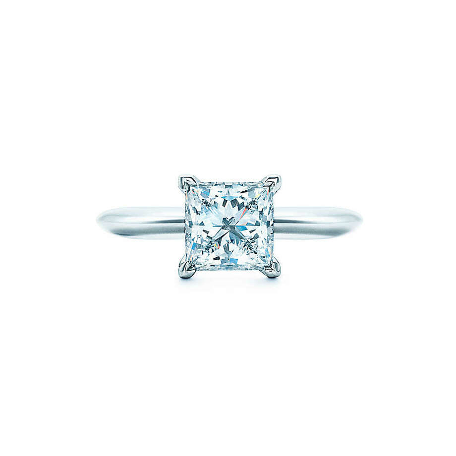 Princess:Sleek, modern and full of life, the princess cut was created in the mid-late 20th century. While still relatively new, it's one of the most popular diamond cuts for engagement rings. The square-shaped diamond looks like an inverted pyramid and features light-reflecting chevron facets. Celebrities including Dancing with the Stars judge Carrie Ann Inaba, former Girl Next Door Kendra Wilkinson and Hilary Duff wear princess cut diamond engagement rings. Photo: Princess Diamond Solitaire, Tiffany & Co.