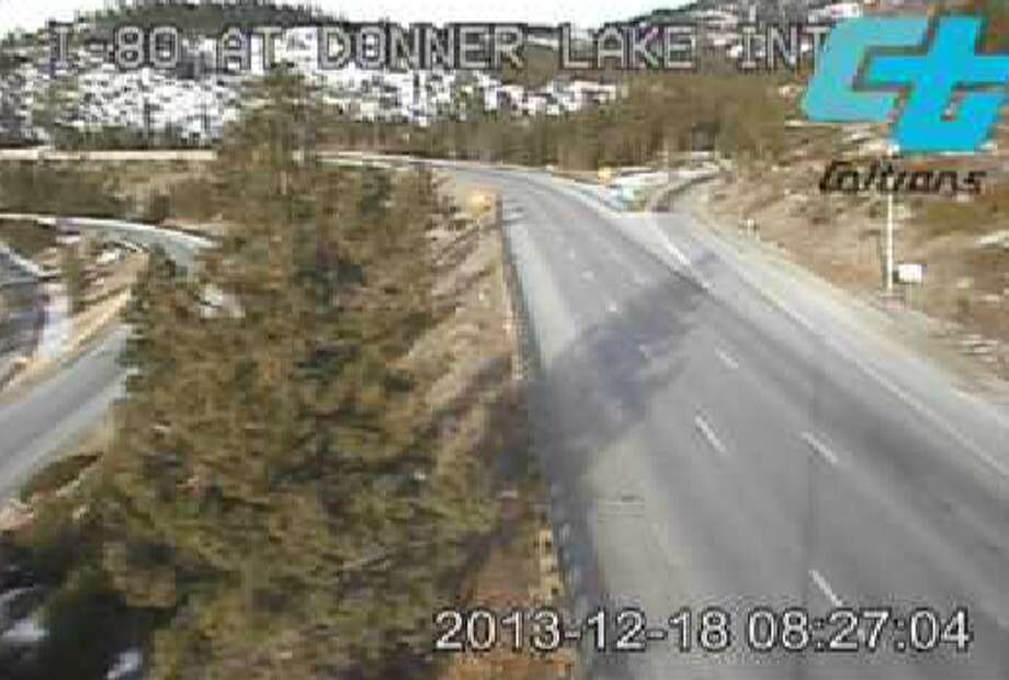 I-80 above Donner Lake west of Truckee on Wednesday morning Photo: Caltrans